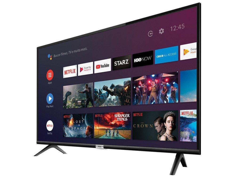 "Smart TV LED 32"" TCL 32S6500S Android, HDR, Controle com Comando de Voz, Micro Dimming, Google Assistant, HDMI e USB - 3"