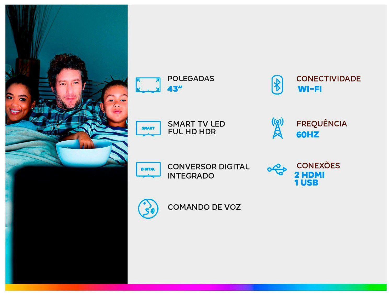 """Smart TV LED 43"""" Full HD TCL 43S6500FS Android, Controle Remoto com Comando de Voz, Google Assistant, HDR, Chromecast Integrado, Bluetooth e HDMI - 3"""