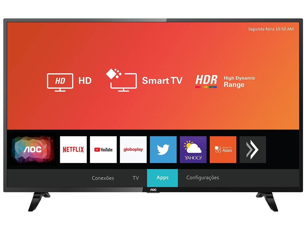 "Smart TV LED 32"" HD AOC 32S5295/78G com HDR, Wi-Fi, Miracast, Botão Netflix, Botão YouTube, Conversor Digital Integrado, HDMI e USB - 5"