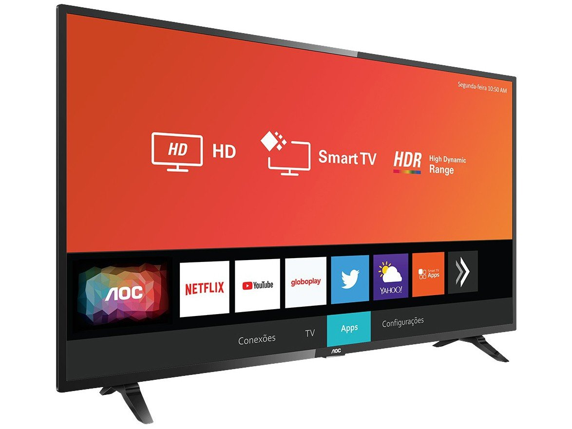 "Smart TV LED 32"" HD AOC 32S5295/78G com HDR, Wi-Fi, Miracast, Botão Netflix, Botão YouTube, Conversor Digital Integrado, HDMI e USB - 7"