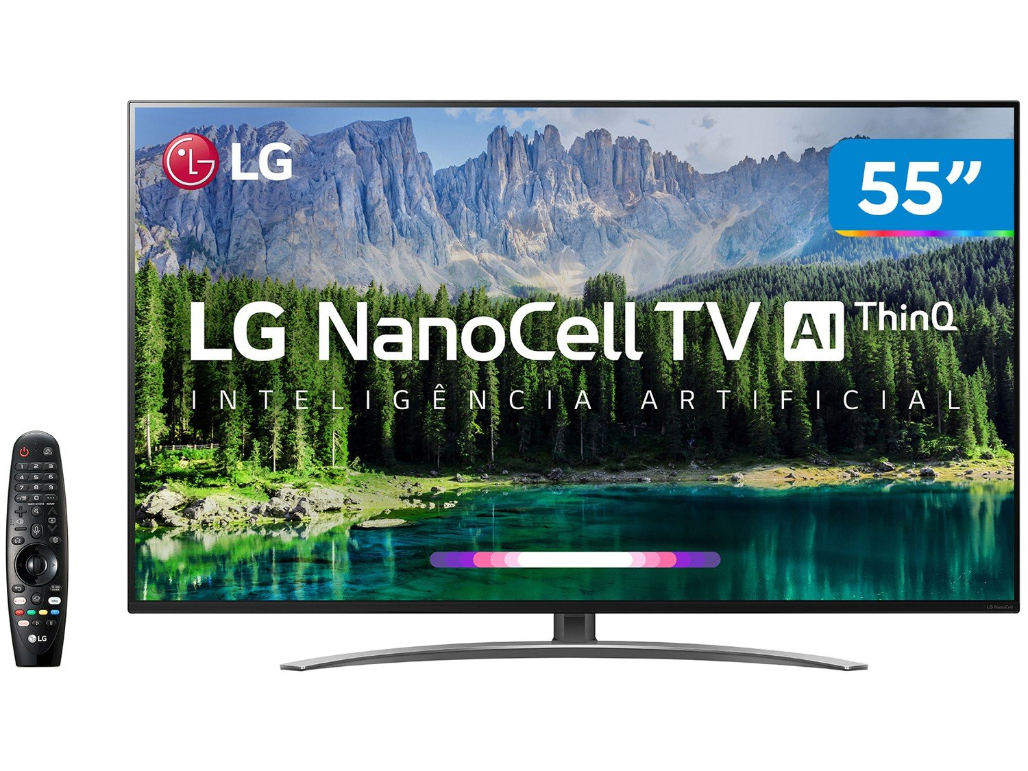 "Smart TV 4K NanoCell 55"" LG 55SM8600PSA Wi-Fi HDR - Inteligência Artificial Controle Smart Magic - Bivolt"