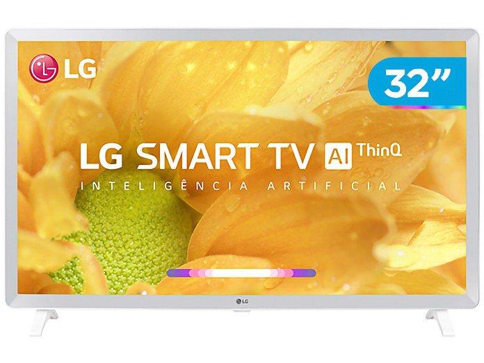 "Smart TV LED 32"" HD LG 32LM620BPSA ThinQ AI Inteligência Artificial com IoT, Virtual Surround Sound, WebOS 4.5, HDR, Quad Core, Bluetooth, HDMI e USB"