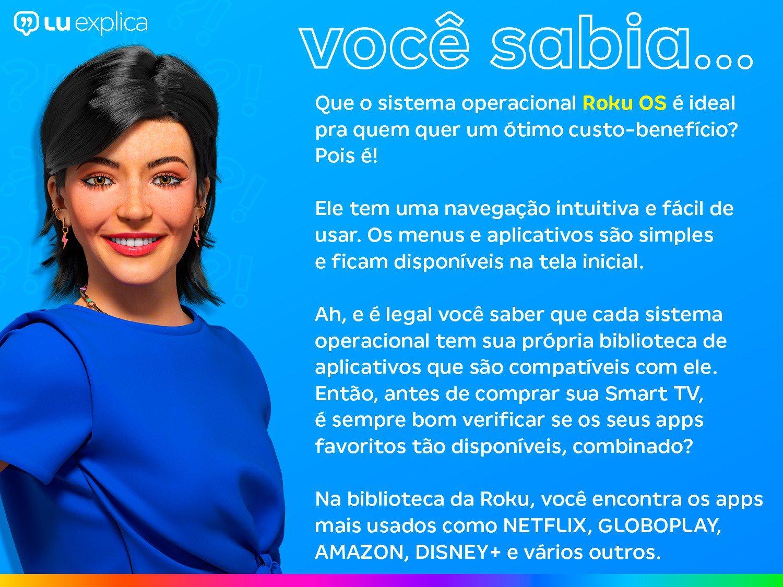 """Smart TV LED 32"""" HD AOC Roku 32S5195/78 com Wi-Fi, Controle Remoto com Atalhos, Roku Mobile, Miracast, PVR, Entradas HDMI e USB - 5"""