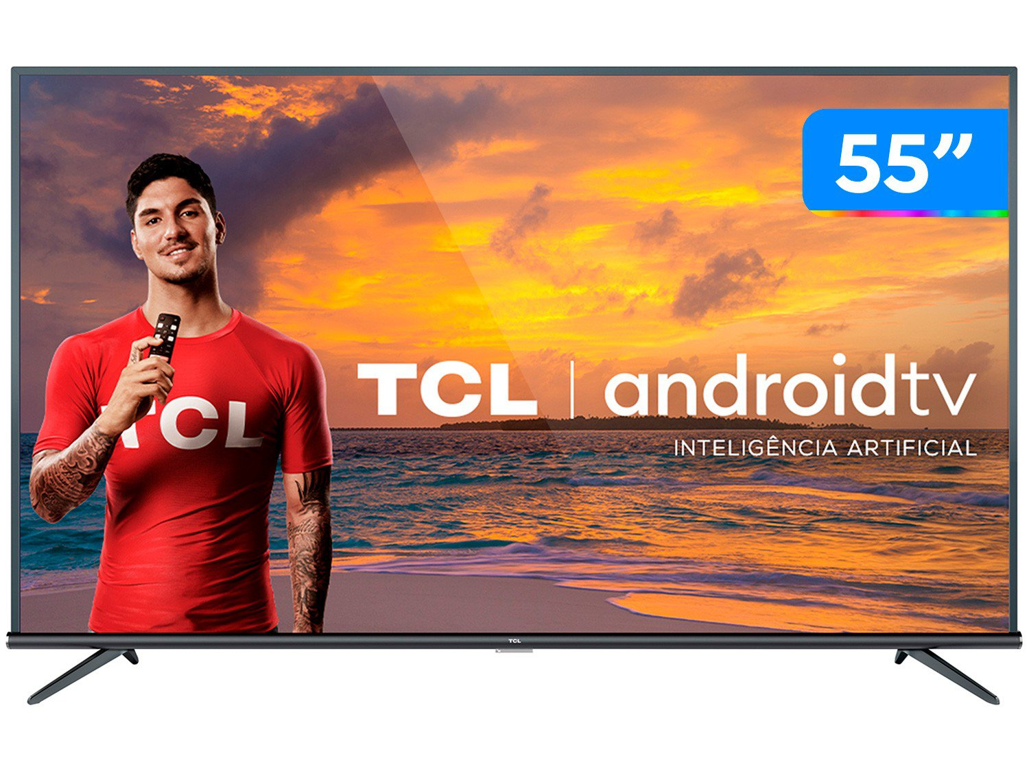 "Smart TV LED 55"" 4K TCL 55P8M com Android TV, Controle Remoto Comando de Voz, HDR, Micro Dimming, Google Assistant, Bluetooth, HDMI e USB - 3"