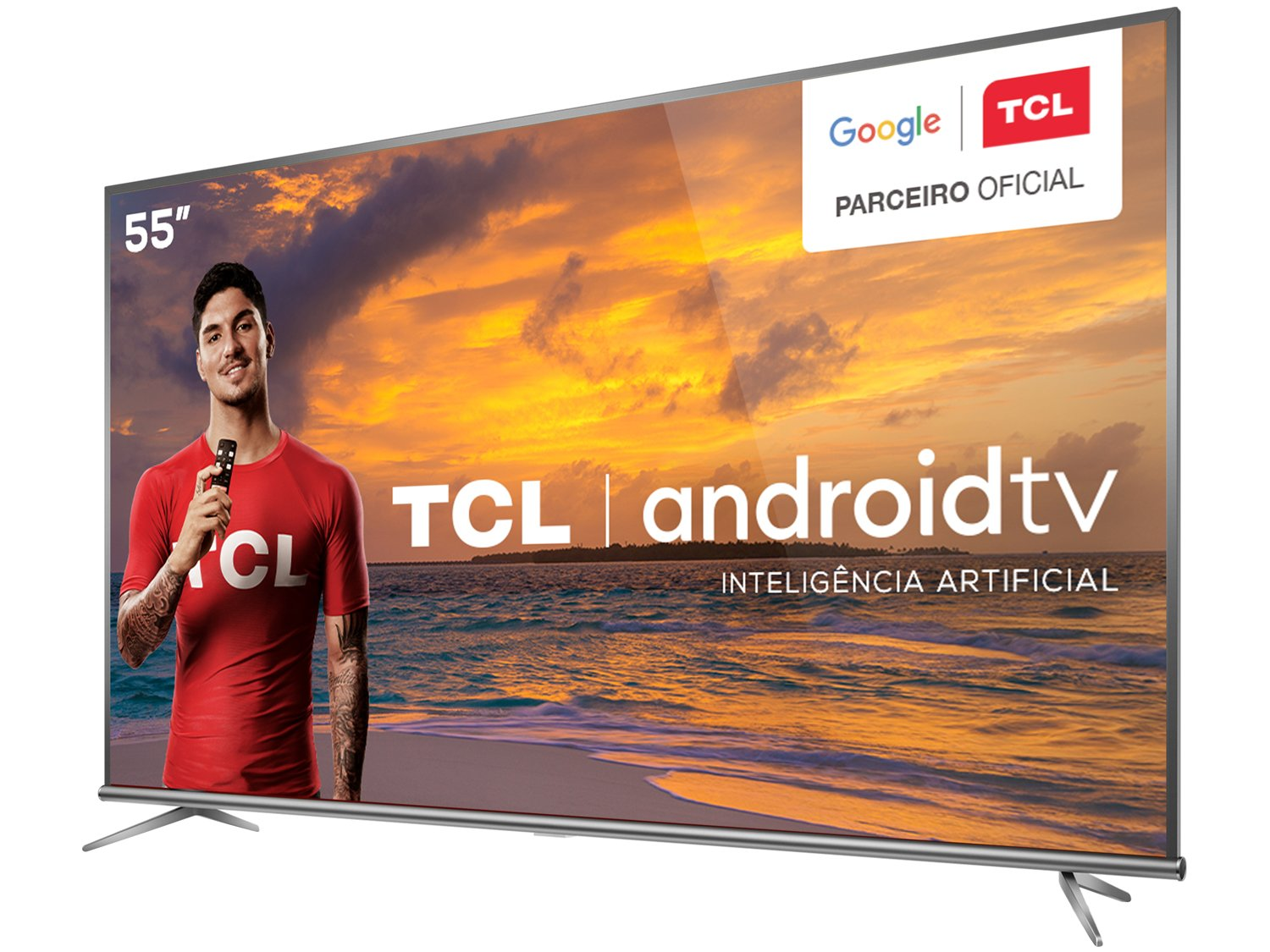 "Smart TV LED 55"" 4K TCL 55P8M com Android TV, Controle Remoto Comando de Voz, HDR, Micro Dimming, Google Assistant, Bluetooth, HDMI e USB - 11"