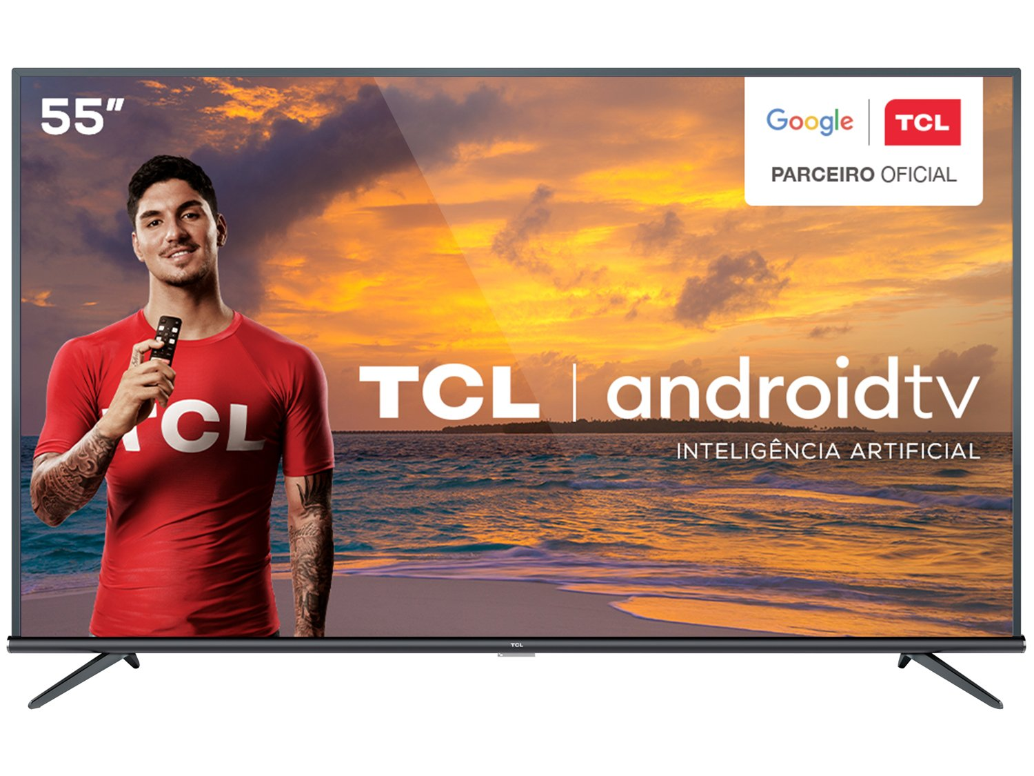 "Smart TV LED 55"" 4K TCL 55P8M com Android TV, Controle Remoto Comando de Voz, HDR, Micro Dimming, Google Assistant, Bluetooth, HDMI e USB - 15"