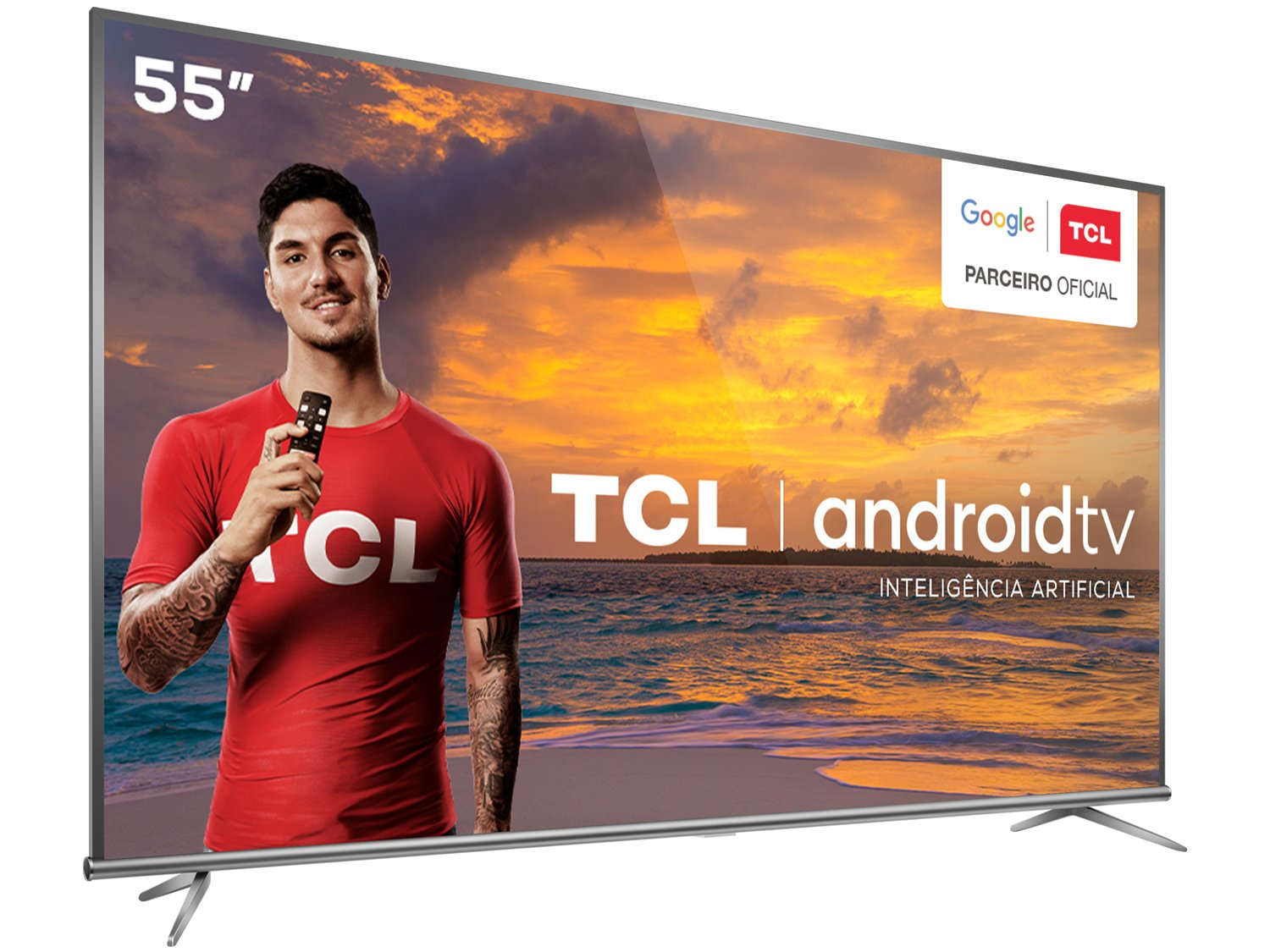 "Smart TV LED 55"" 4K TCL 55P8M com Android TV, Controle Remoto Comando de Voz, HDR, Micro Dimming, Google Assistant, Bluetooth, HDMI e USB - 16"