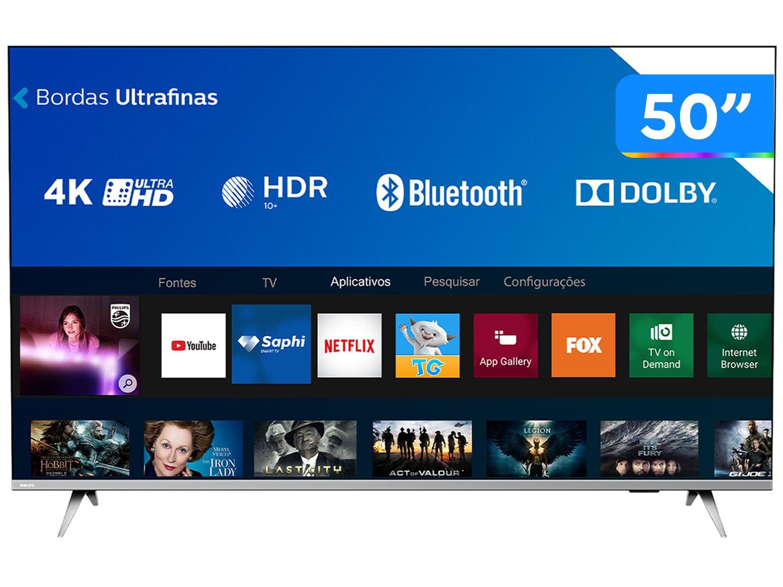"Smart TV LED 50"" 4K Philips 50PUG6654/78 com HDR, Dolby Vision, Dolby Atmos, Wi-Fi, Quad Core, Bluetooth, Entradas HDMI e USB - 3"