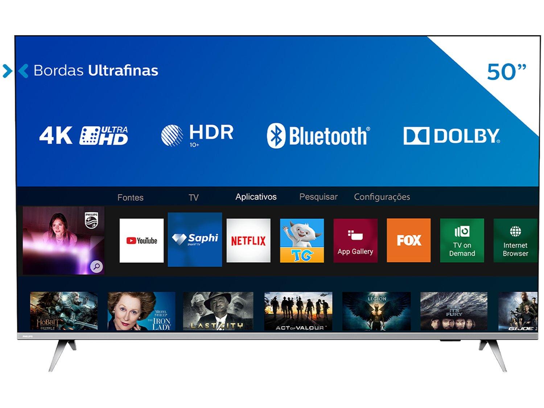 "Smart TV LED 50"" 4K Philips 50PUG6654/78 com HDR, Dolby Vision, Dolby Atmos, Wi-Fi, Quad Core, Bluetooth, Entradas HDMI e USB - 15"