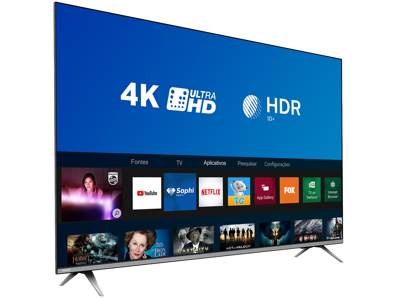 "Smart TV LED 50"" 4K Philips 50PUG6654/78 com HDR, Dolby Vision, Dolby Atmos, Wi-Fi, Quad Core, Bluetooth, Entradas HDMI e USB - 16"