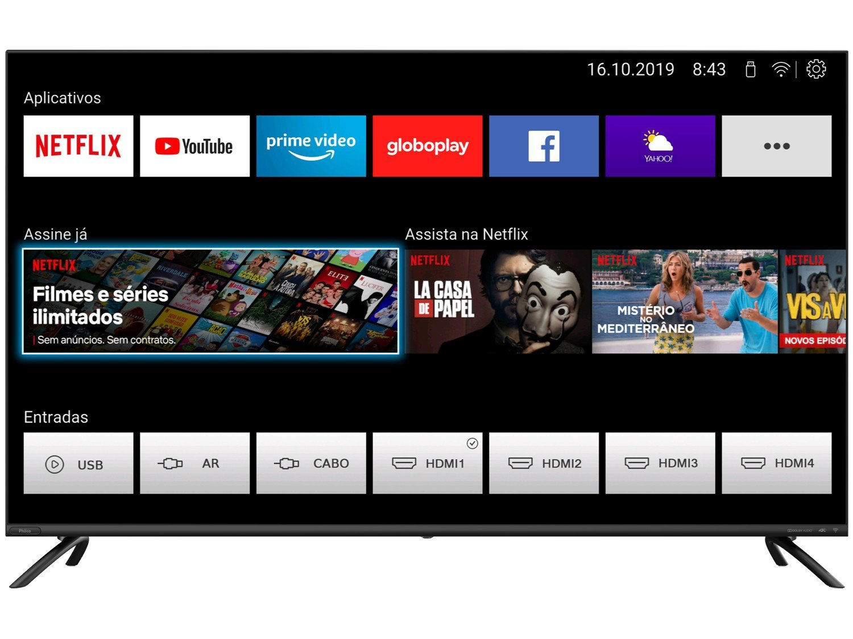 "Smart TV LED 50"" 4K Philco PTV50G70SBLSG com HDR, Processador Quad Core, GPU Triple Core, Dolby Audio, Mídia Cast, Wi-Fi, HDMI e USB - 7"