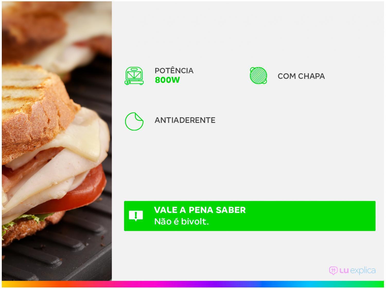 Sanduicheira e Grill Mondial Premium S-07 - 110V - 4