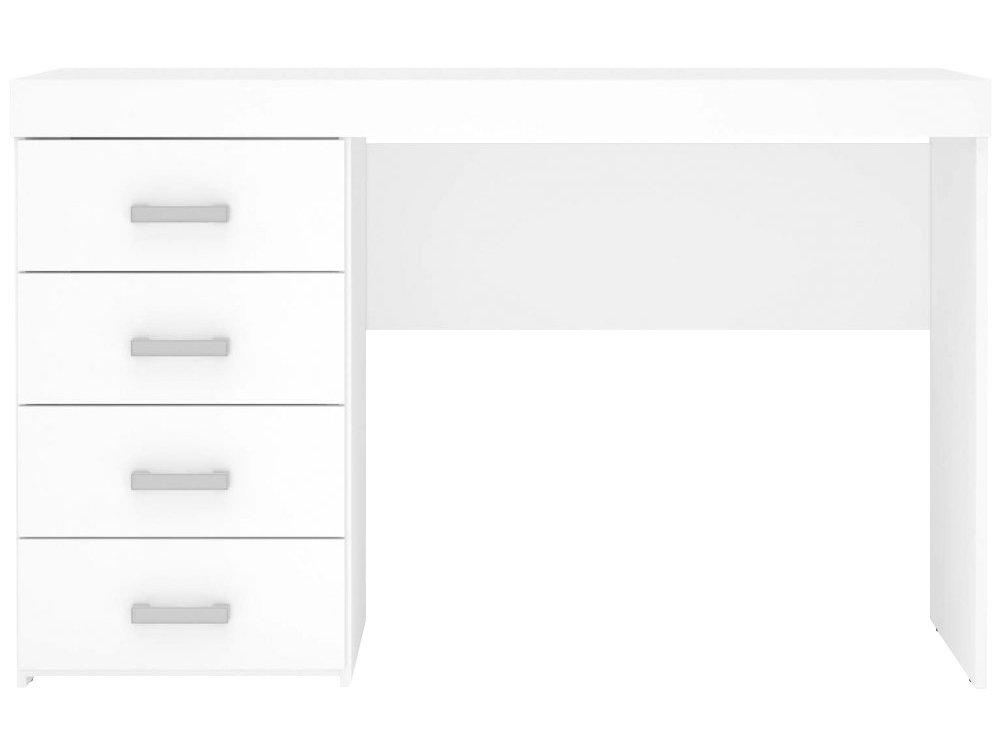 Mesa para Computador ou Escritório Politorno Malta com 4 Gavetas - Branco