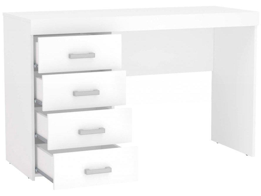 Mesa para Computador ou Escritório Politorno Malta com 4 Gavetas - Branco - 6
