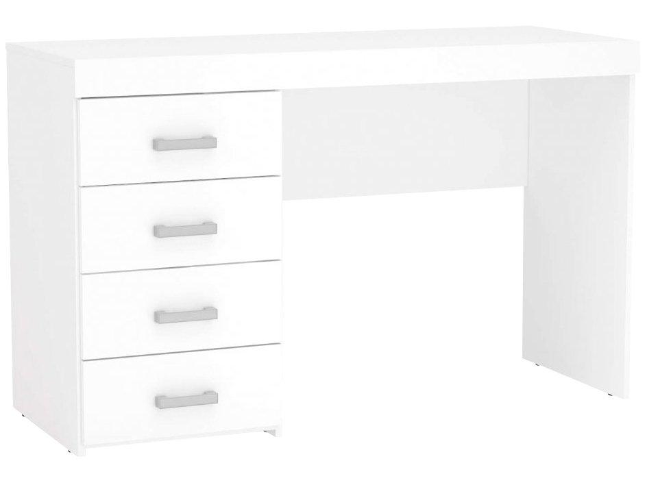 Mesa para Computador ou Escritório Politorno Malta com 4 Gavetas - Branco - 8