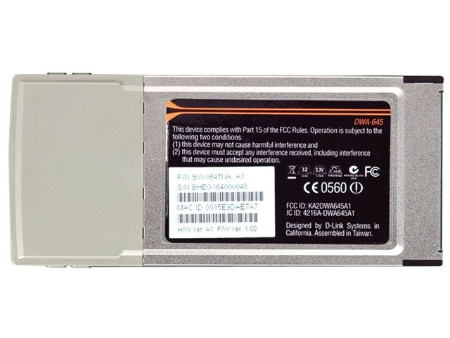 Foto 6 - Placa Wireless D-Link DWA-645 PCMCIA - Wireless 802.11N para Notebooks