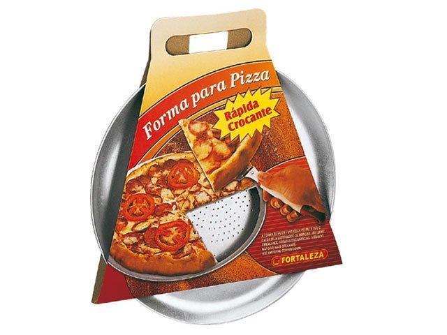 Forma para Pizza com Espátula - Alumínio Fortaleza Polido Extra Forte 630035 - 2