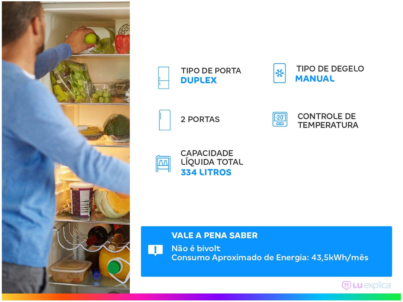 Refrigerador Consul CRD37EB com Prateleiras Removíveis e Reguláveis Branco - 334L - 110v - 3
