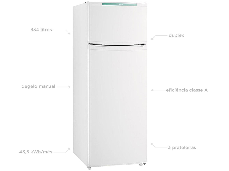 Refrigerador Consul CRD37EB com Prateleiras Removíveis e Reguláveis Branco - 334L - 110v - 6