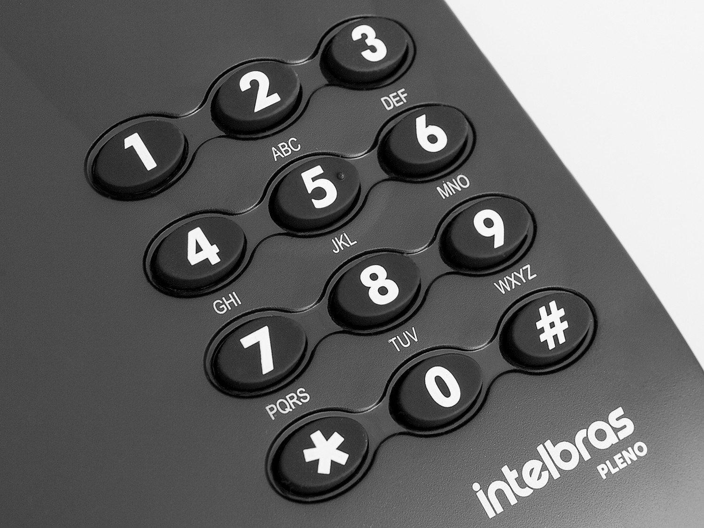 Telefone com Fio Intelbras Pleno - Preto - 5