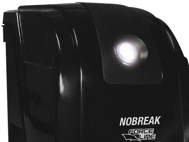 Foto 2 - Nobreak 700VA Force Line c/ Estabilizador - Filtro de Linha Bivolt 4 Tomadas 1 Bateria Selada