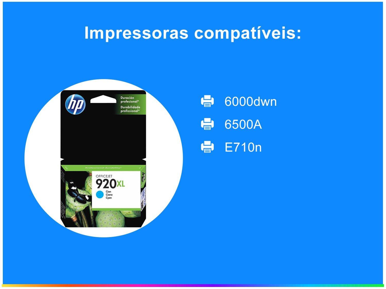 Foto 2 - Cartucho de Tinta HP Ciano 920 XL Officejet - Original