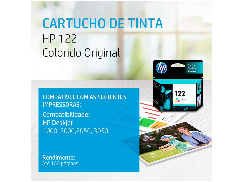 Foto 2 - Cartucho de Tinta HP 122 Colorido Original CH562HB -