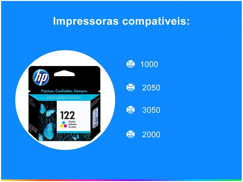 Cartucho de Tinta HP 122 Colorido - Original - 4