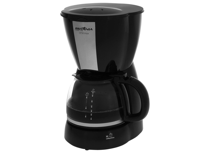 Cafeteira Elétrica Britânia CP30 - Preto/Inox - 110V
