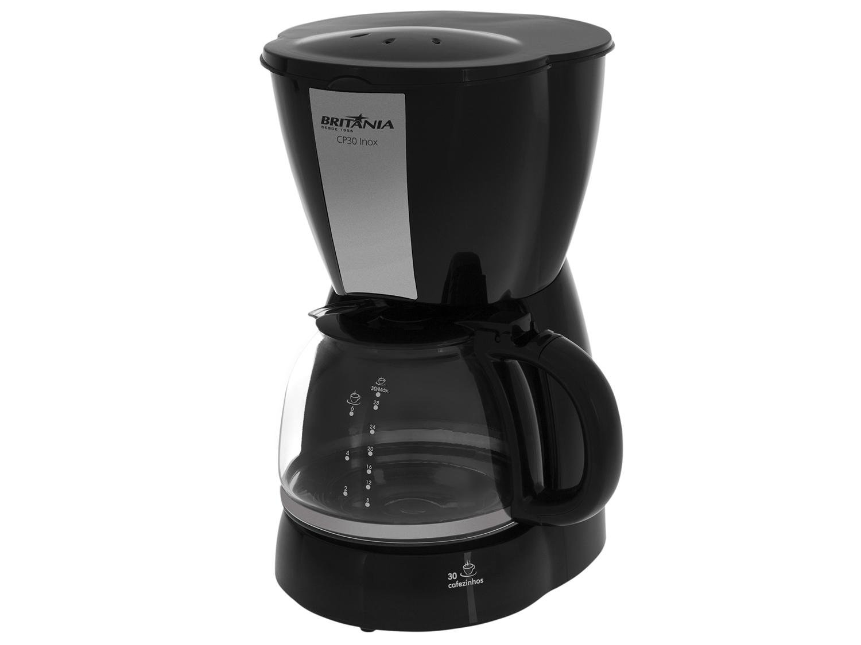 Cafeteira Elétrica Britânia CP30 - Preto/Inox - 110V - 8