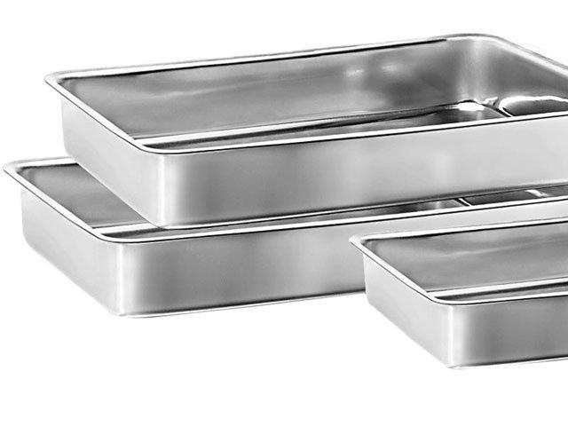 Conjunto de Assadeiras Marcolar - Retangular Alumínio 3 Peças 207 - 1