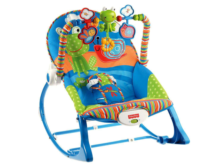 Cadeira de Descanso Vibratória Fisher-Price Crescendo Comigo Sapinho - 0 a 18kg - Azul - 3