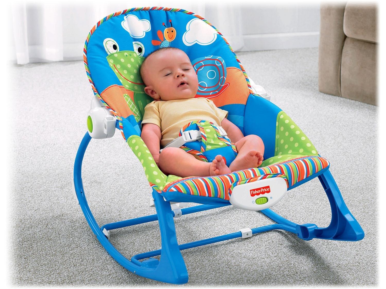 Cadeira de Descanso Vibratória Fisher-Price Crescendo Comigo Sapinho - 0 a 18kg - Azul - 11