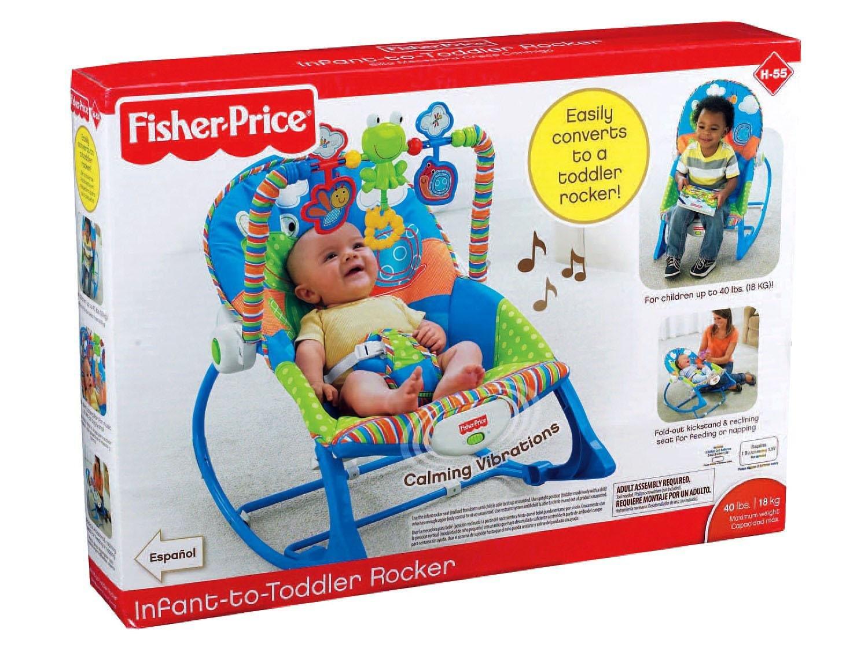 Cadeira de Descanso Vibratória Fisher-Price Crescendo Comigo Sapinho - 0 a 18kg - Azul - 15