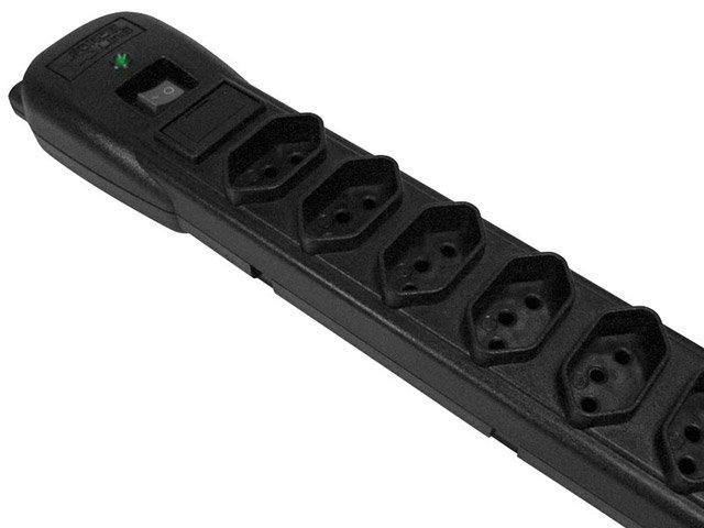 Foto 2 - Filtro de Linha 6 Tomadas Bivolt Force Line Slim - Com Protetor contra Surtos