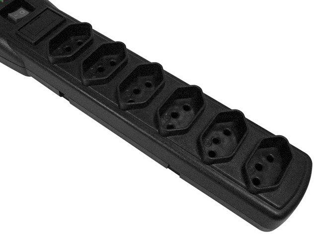 Foto 3 - Filtro de Linha 6 Tomadas Bivolt Force Line Slim - Com Protetor contra Surtos