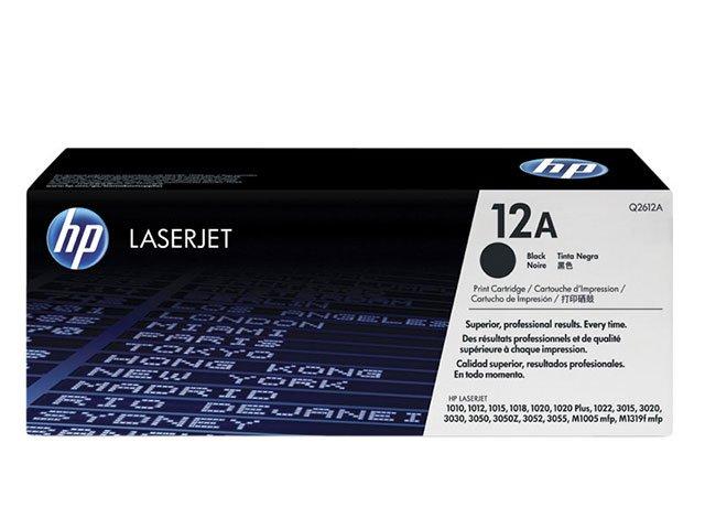 Foto 1 - Toner HP Preto 12A LaserJet - Original