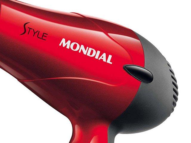 Secador de Cabelos Mondial Style SC-11 e 3 Temperaturas 1200W – Preto/Vermelho - 110 v - 4