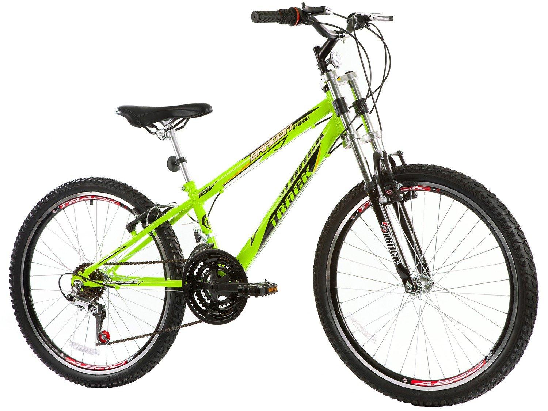 Bicicleta Track & Bikes Dragon Fire Aro 24 - 18 Marchas Suspensão Dianteira Downhill