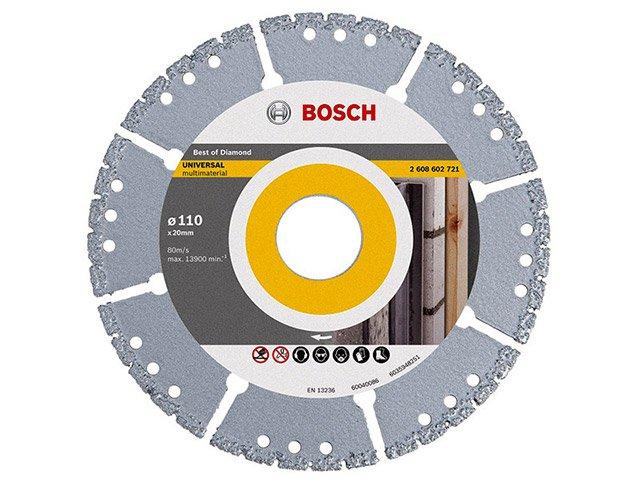 Disco de Corte Diamantado Bosch - UPP-SEG Multi Material - 4