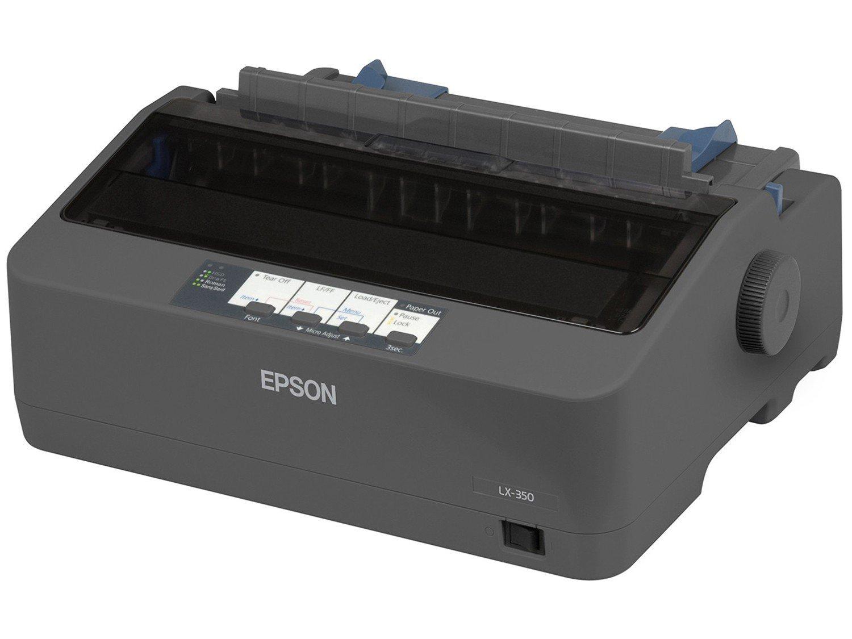 Foto 1 - Impressora Epson LX-350 Matricial Preto e Branco - USB