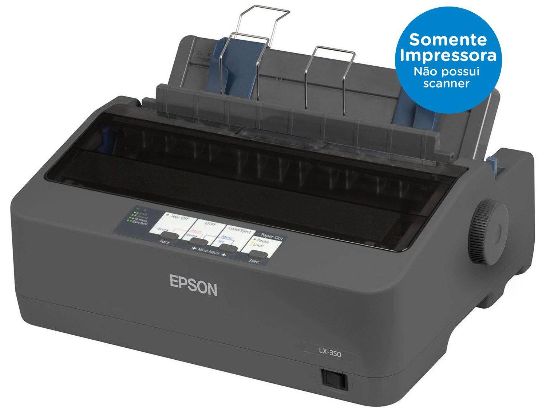 Foto 2 - Impressora Epson LX-350 Matricial Preto e Branco - USB