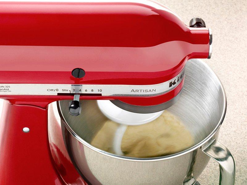 Batedeira Planetária KitchenAid Stand Mixer com 10 Velocidades + Função Pulsar - Vermelha - 110v - 8