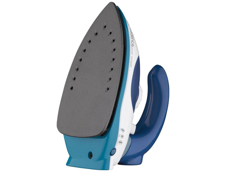 Ferro de Passar a Vapor Cadence Power Compact - Branco e Azul Base Antiderrapante - Bivolt - 8