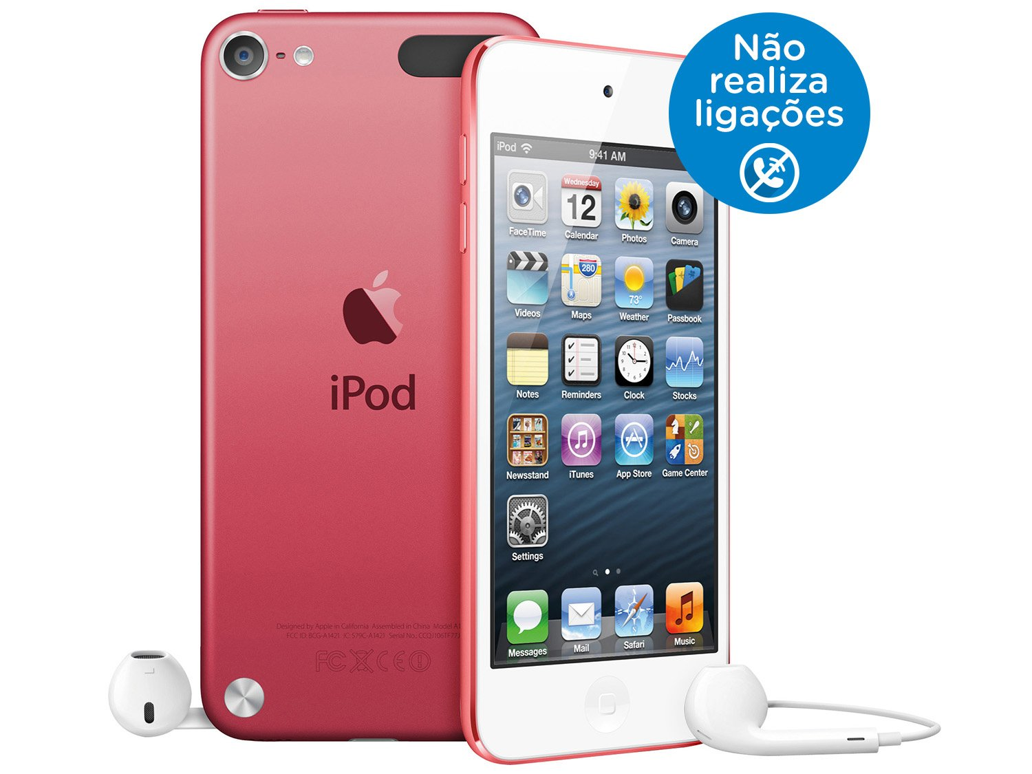 Foto 3 - iPod Touch Apple 16GB Multi-Touch Wi-Fi Bluetooth - Câmera 5MP MGFY2BZ/A Rosa
