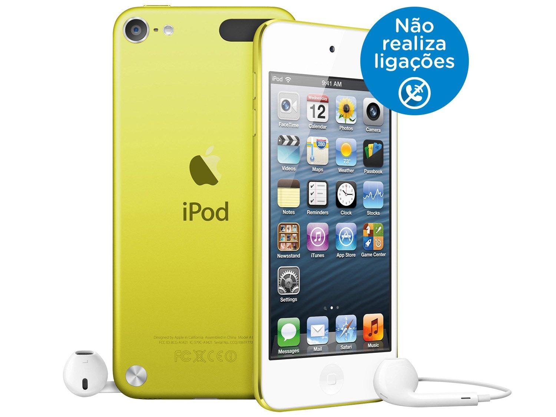 Foto 1 - iPod Touch Apple 16GB Multi-Touch Wi-Fi Bluetooth - Câmera 5MP MGG12BZ/A Amarelo