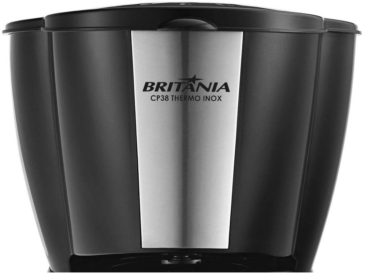Foto 5 - Cafeteira Elétrica Inox Britânia CP38 THERMO - Preta 38 Xícaras