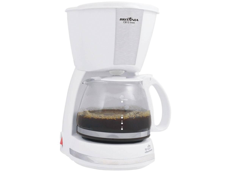Cafeteira Elétrica Britânia CAF CB15 Branca - 15 Xícaras - 220 V