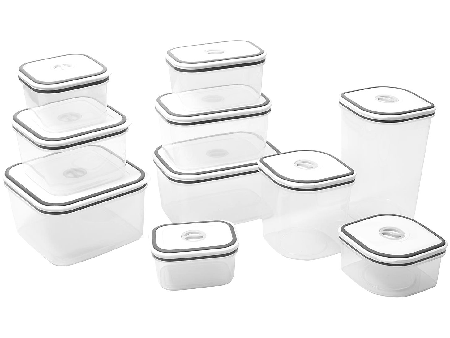 Jogo de Potes de Plástico Hermético Electrolux - com Tampa Quadrado 80000565 10 Peças - 4