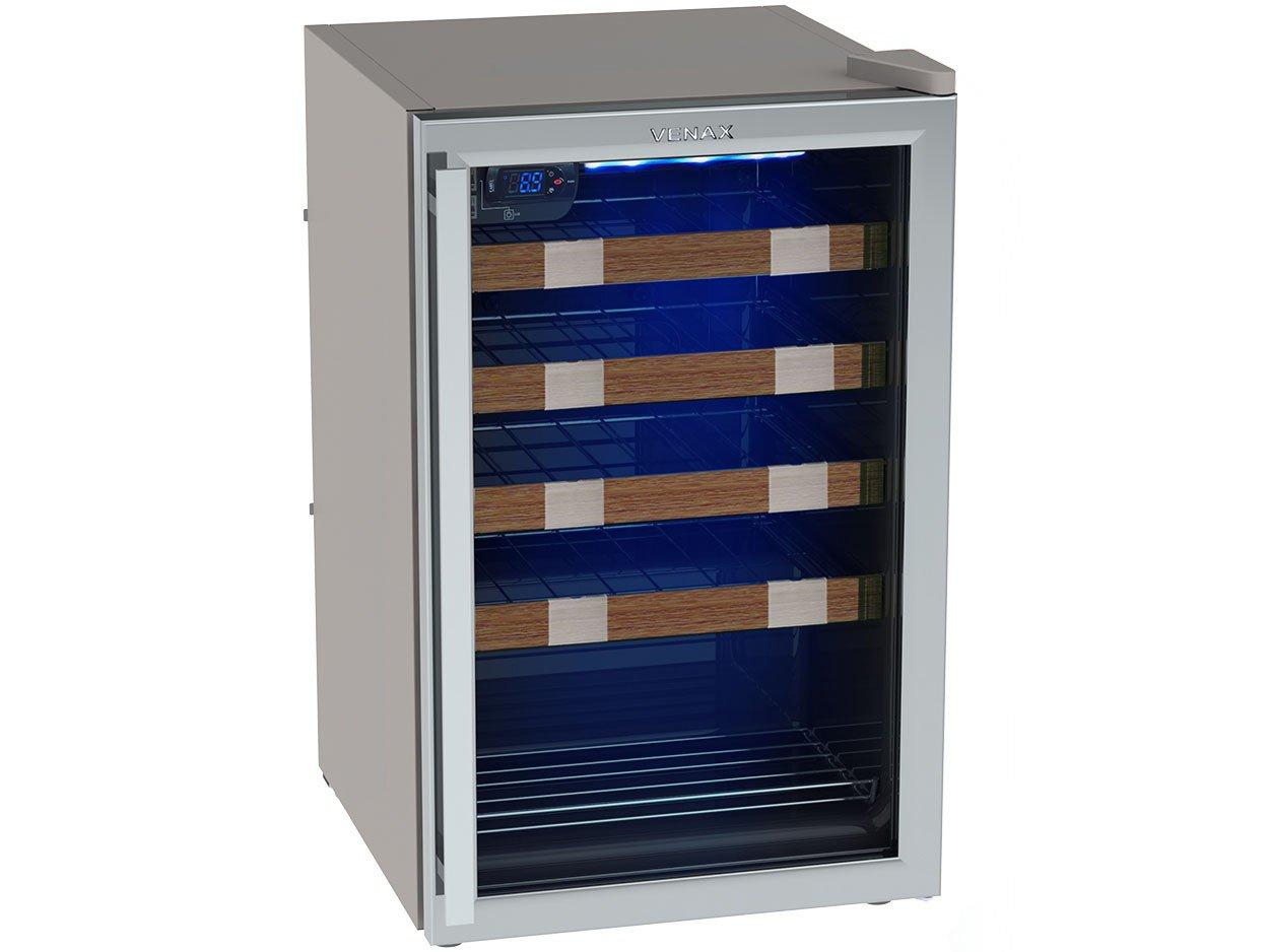 Foto 1 - Adega Climatizada Venax 24 Garrafas Piubella Cave - com Compressor Controle Digital de Temperatura